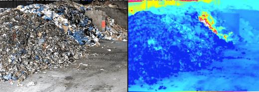 Temperaturanstieg mit Wärmebildkamera erkennen