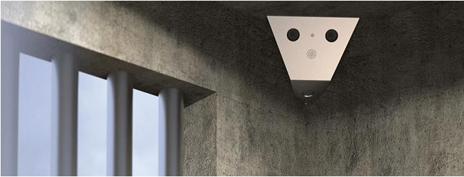 IP-Überwachungskamera im Gefängnis