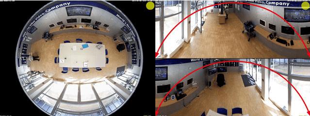 360 Grad Überwachungsbild C25 C26